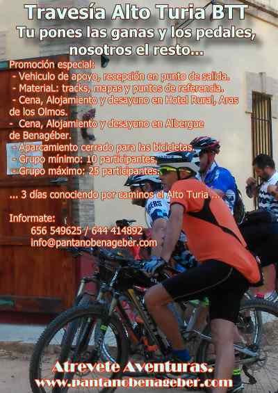 Travesía BTT Alto Turia - Valencia. 3 días de Ruta alrededor del Turia