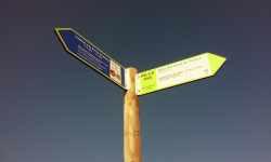 Señaletica de rutas y de interpretación en el Azud de Tuéjar, Alto Turia